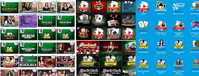 ブラックジャックゲームの豊富さ