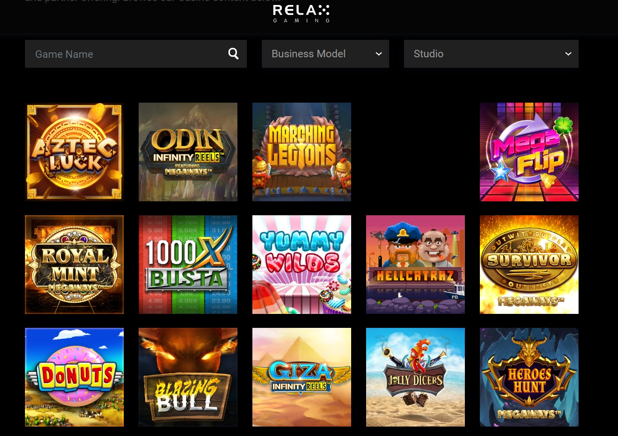 ■Relax Gaming(リラックスゲーミング)が提供しているゲーム