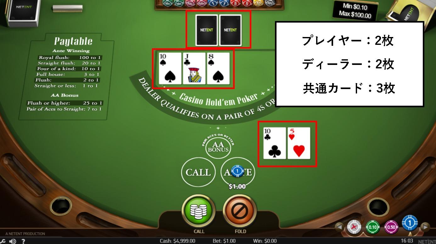 ○2. ディールを押してカードが配られる