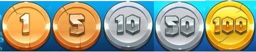 コイン1から100