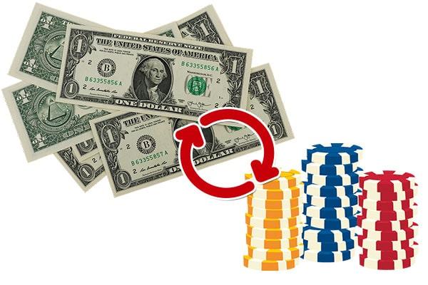 米ドルに換金