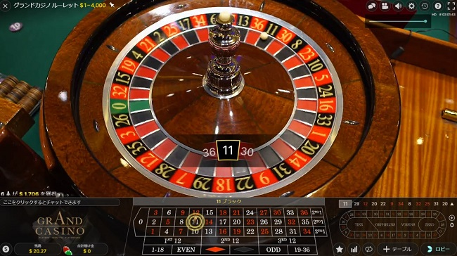 グランドカジノルーレットの遊ぶ手順3