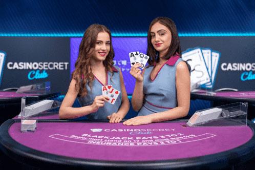 専用のカジノスタジオがある