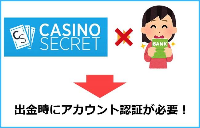 カジノシークレットのアカウント認証が必要な理由