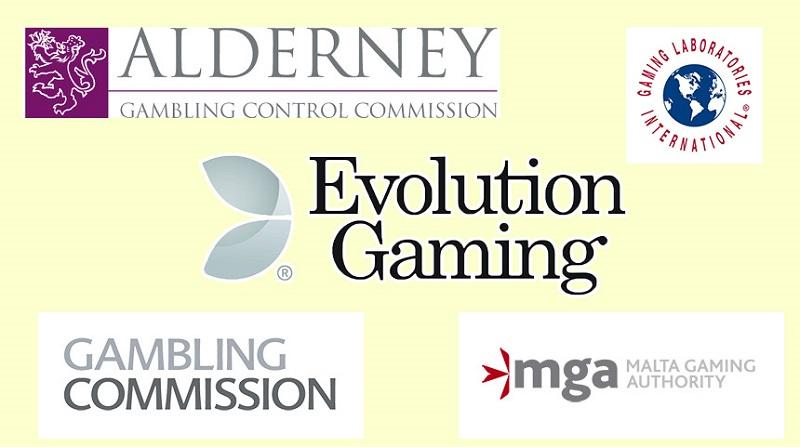 Evolution Gamingのライセンス