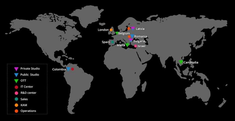 世界10カ国にスタジオを設けている