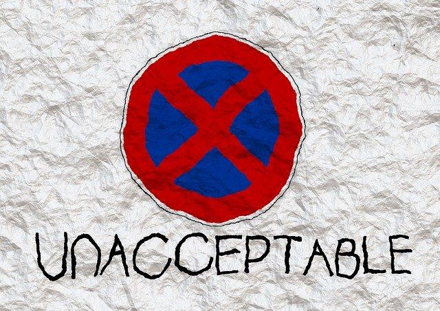 注意点 unacceptable