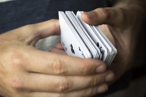 カードに印をつける